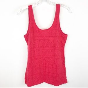 SO by Kohl's NWT Bright Pink Fitted Tank
